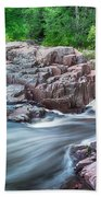 The Dells Of The Eau Claire River  Beach Towel