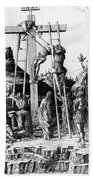 The Descent From The Cross Beach Towel by Andrea Mantegna