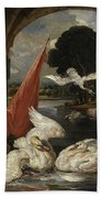The Descent Of The Swan, Illustration Beach Towel