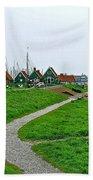 The Dike In Enkhuizen-netherlands Beach Towel