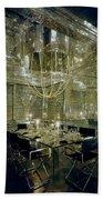 The Dining Room Of Ara Gallant's Apartment Beach Sheet