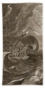 The Dioscuri Protect A Ship, 1731 Beach Towel by Bernard Picart