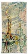 The Dogana Beach Towel by Paul Signac