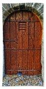 The Door - Vintage Art By Sharon Cummings Beach Towel by Sharon Cummings