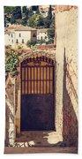 The Door With Overview Of Ronda Beach Towel