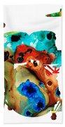 The Drums - Music Art By Sharon Cummings Beach Towel