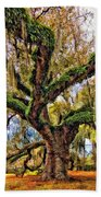 The Dueling Oak Painted Beach Towel
