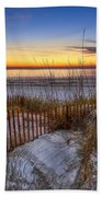 The Dunes At Sunset Beach Towel by Debra and Dave Vanderlaan