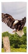 The Eagle Is Landing Beach Towel