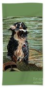 The Early Berner Catcheth Phone Beach Towel