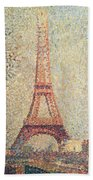 The Eiffel Tower Beach Towel