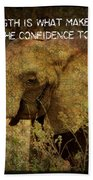 The Elephant - Inner Strength Beach Towel