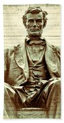 The  Emancipation Proclamation And Abraham Lincoln Beach Towel