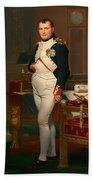 The Emperor Napoleon In His Study 1812 Beach Towel