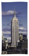 The Empire State Building Beach Towel