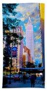 The Empire State Building Beach Towel by Jon Neidert