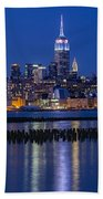 The Empire State Building Pastels Esb Beach Towel