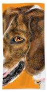 The English Pointer Foxhound Beach Towel