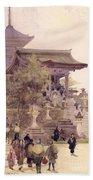 The Entrance To The Temple Of Kiyomizu Dera Kyoto Beach Towel
