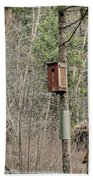 Birdhouse Environment Of Hamilton Marsh  Beach Towel