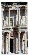 The Ephesus Library In Turkey Beach Towel