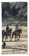 The Equestrians   Beach Towel