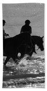 The Equestrians-silhouette V2 Beach Towel