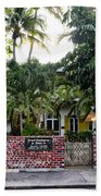 The Ernest Hemingway House - Key West Beach Towel