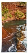 The Exotic And Stunning Red Sand Beach On Maui Beach Towel