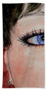 The Eyes Have It - Nicole Beach Towel