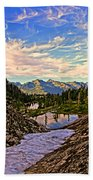 The Eyes Of The Mountain. Beach Towel