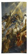 The Fall Of Phaeton Beach Towel by  Peter Paul Rubens