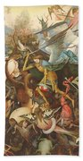 The Fall Of The Rebel Angels, 1562 Oil On Panel Beach Towel
