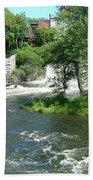 The Falls In Middlebury Beach Towel