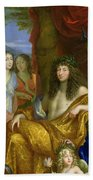 The Family Of Louis Xiv 1638-1715 1670 Oil On Canvas Detail Of 60094 Beach Towel