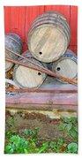 The Farmer's Old Wheelbarrow Beach Towel