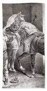 The Farrier, From Etudes De Cheveaux Beach Towel