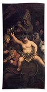 The Feast Of Bacchus, 1654 Beach Towel