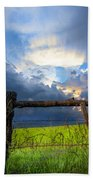 The Fence At Cades Cove Beach Towel