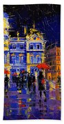 The Festival Of Lights In Lyon France Beach Towel