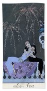 The Fire Beach Towel by Georges Barbier