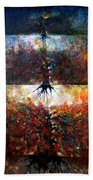 The Fire Of Forest-the Fire Of Heart Beach Towel