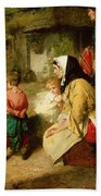 The First Break In The Family Beach Towel by Thomas Faed