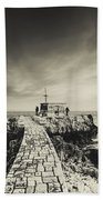 The Fishermen's Hut Beach Towel by Marco Oliveira