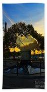 The Flame Of Liberty In Paris Beach Towel