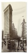 The Flatiron Building In Ny Beach Towel