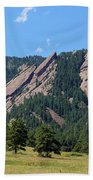 The Flatirons Beach Towel by Bob Hislop
