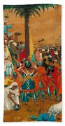 The Flight Out Of Egypt Beach Towel
