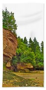 The Flowerpots At Hopewell Rocks On Bay Of Fundy-new Brunswick Beach Towel