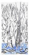 The Forest For The Trees An Aceo Beach Towel